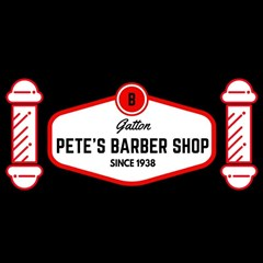 Logo for Petes Barber Shop